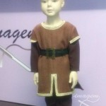 Traje medieval-infantil-marron