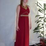 Vestido-de-romana-largo-rojo